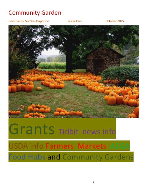 Community Garden Magazine Issue Two October 2015