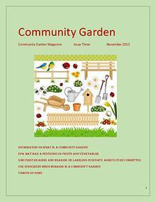 Community Garden, November Issue, Number Three