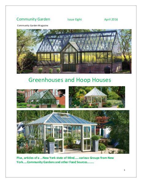 Community Garden Magazine  Issue Eight  April 2016 Community Garden Magazine  Issue Eight  April 2016