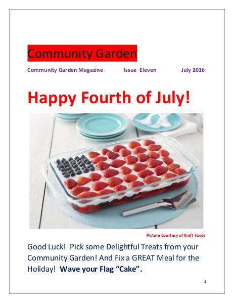 Community Garden       Issue Eleven              July 2016 Issue Eleven  July 2016