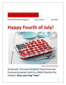 Community Garden       Issue Eleven              July 2016