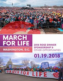 2018 March for Life Sponsorship Packet