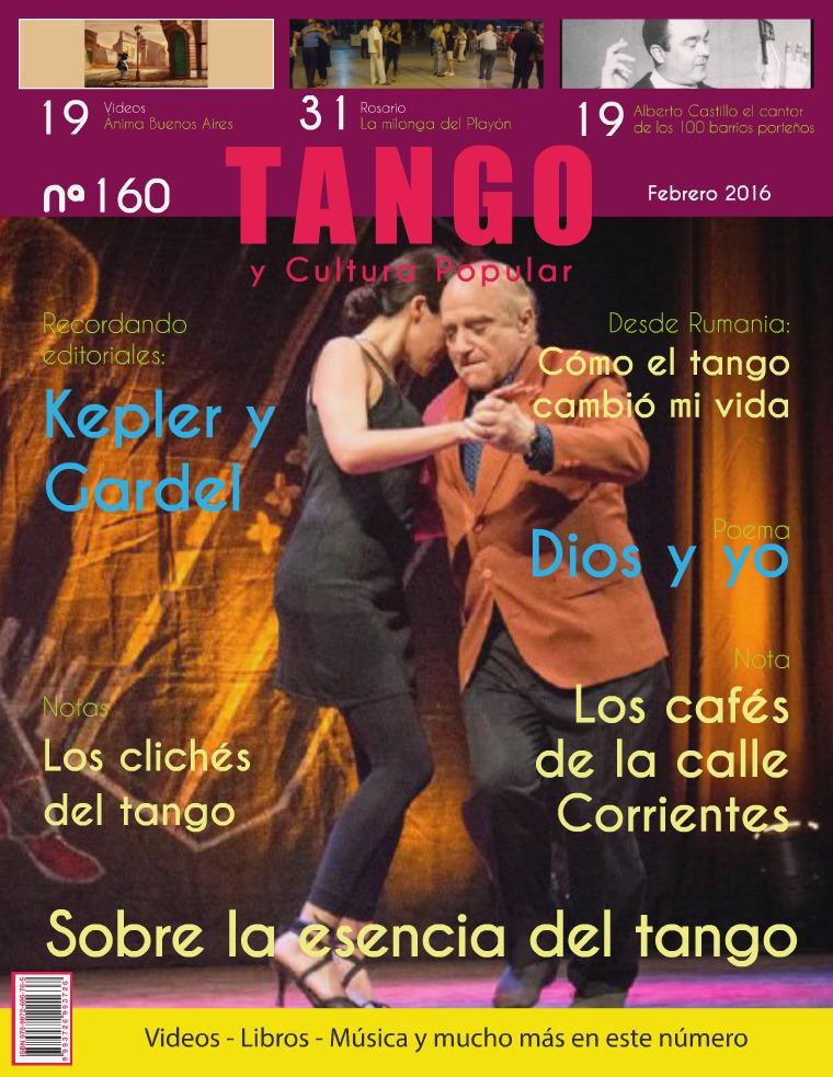 Tango y Cultura Popular ® N° 160