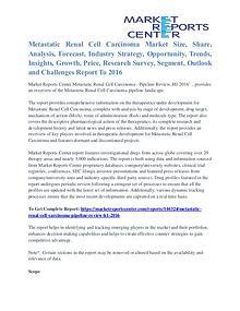 Metastatic Renal Cell Carcinoma Market Segmentation To 2016