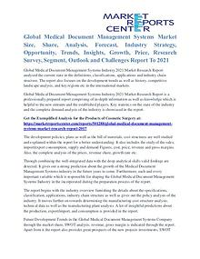 Medical Document Management Systems Market Analysis To 2021
