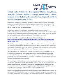 United States Automotive Loudspeaker Market Growth Analysis To 2022