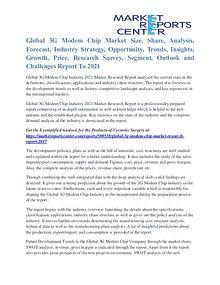 3G Modem Chip Market Business Outlook and Procurement Survey To 2021