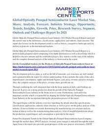 Optically Pumped Semiconductor Laser Market Future Growth To 2021