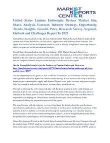 United States Lumina Endoscopic Devices Market Forecasts To 2021