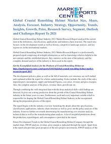 Cranial Remolding Helmet Market Business Outlook To 2021