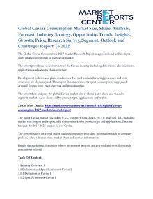 Caviar Consumption Market Opportunities Till 2022