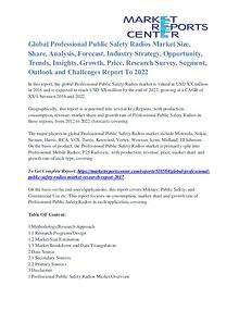 Professional Public Safety Radios Market Overview, Size, Share 2022
