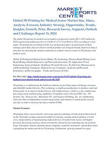 3D Printing for Medical Sector Market Analysis and Forecast 2024