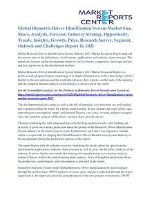 Biometric Driver Identification System Market Overview By 2021