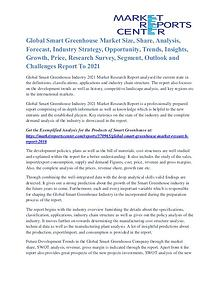 Smart Greenhouse Market Competitive Analysis and Development by 2021