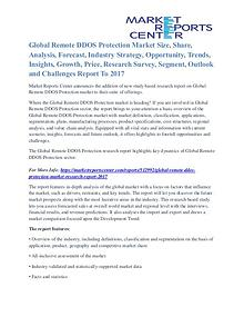 Remote DDOS Protection Market Segmentation and Analysis by 2017