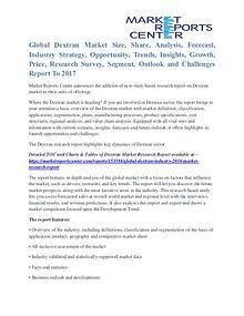 Dextran Market Business Outlook and Procurement Survey To 2017