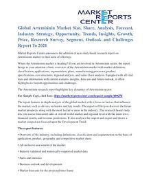 Artemisinin Market Region, Application, Trends & Forecasts to 2021