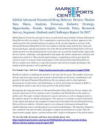 Advanced parenteral drug delivery devices market share to 2017