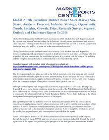 Nitrile Butadiene Rubber Power Sales Market Share & Forecast To 2016