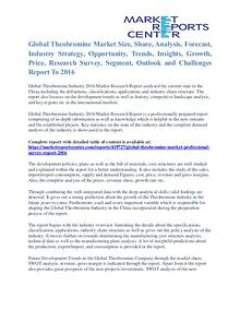 Theobromine Market Share, Growth, Opportunity And Outlook To 2016