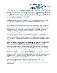 LTE for Critical Communications Market Size, Analysis & Share To 2030