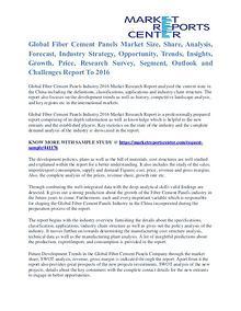 Fiber Cement Panels Market Segmentation Trends and Opportunities 2016