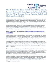 Antibodies Sales Market Size, Industry Analysis Report To 2016