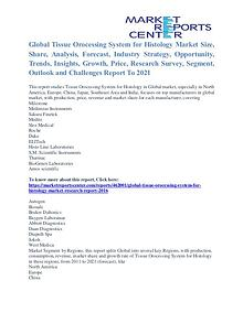 Tissue Orocessing System for Histology Market Analysis To 2021