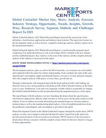 Carbachol Market Segmentation and Growth Forecast To 2021