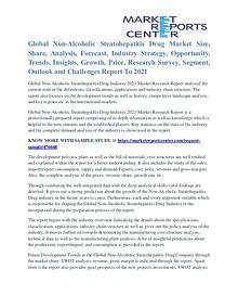 Non-Alcoholic Steatohepatitis Drug Market Trends Analysis To 2021