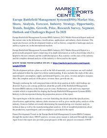Europe Battlefield Management Systems(BMS) Market Key Vendors To 2021
