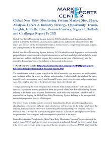 New Baby Monitoring System Market Major Players Analysis To 2021
