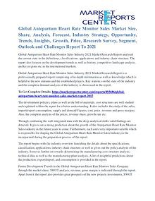 Antepartum Heart Rate Monitor Sales Market Outlook To 2021