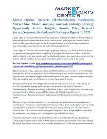 Optical Tweezers (Mechanobiology Equipment) Market Application 2021