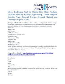 Healthcare Analytics Market Segmentation and Major Players 2021
