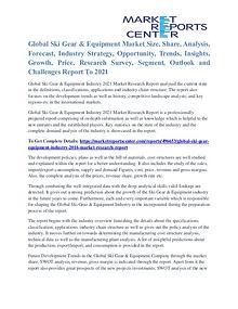 Ski Gear & Equipment Market Analysis, Demand And Forecast To 2021