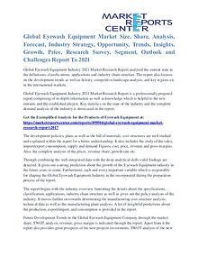 Eyewash Equipment Market Demand, Forecast and Opportunities To 2021