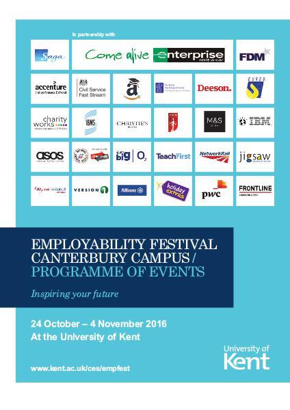 Careers Fair Tuesday 1 November 2016 Careers And