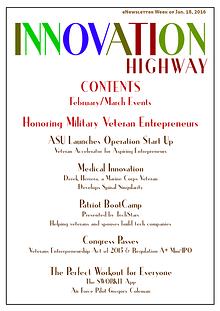 Jan. 2016 Innovation Highway - Supporting Veteran Entrepreneurs