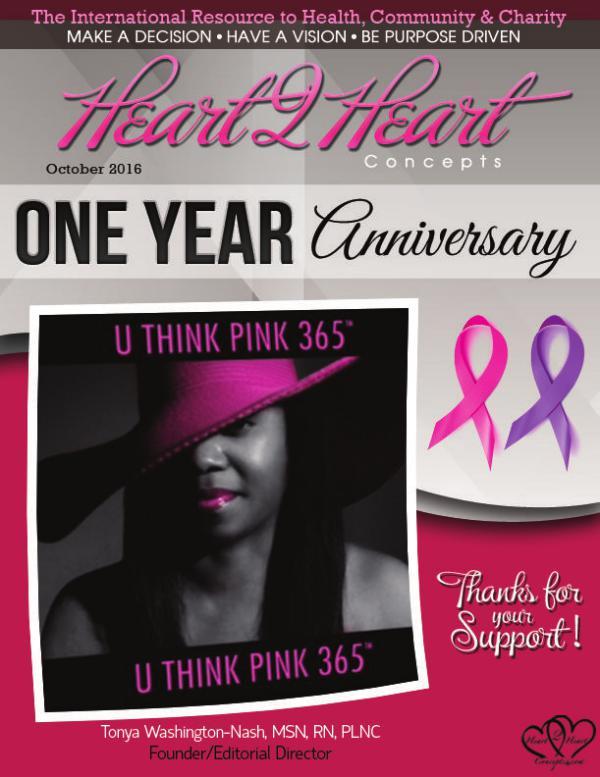 Heart 2 Heart Concepts Magazine OCTOBER/2016
