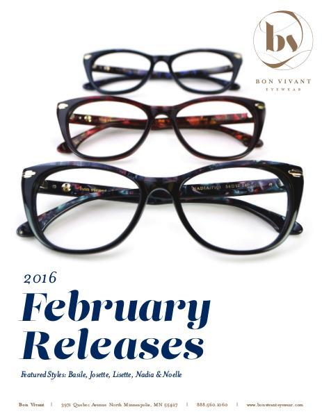Bon Vivant New Releases February 2016