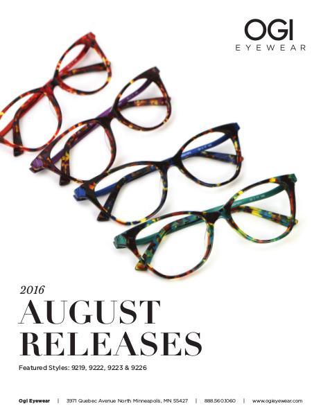 Ogi Eyewear New Releases August 2016