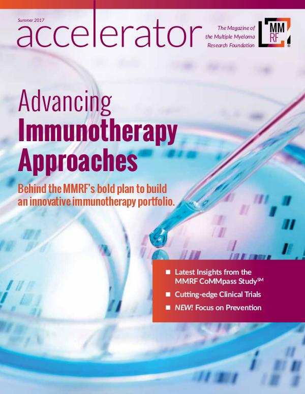 MMRF Accelerator Magazine Summer 2017 Edition