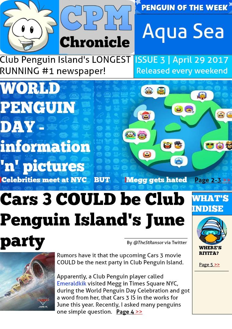 Club Penguin Metro Chronicle Issue 3