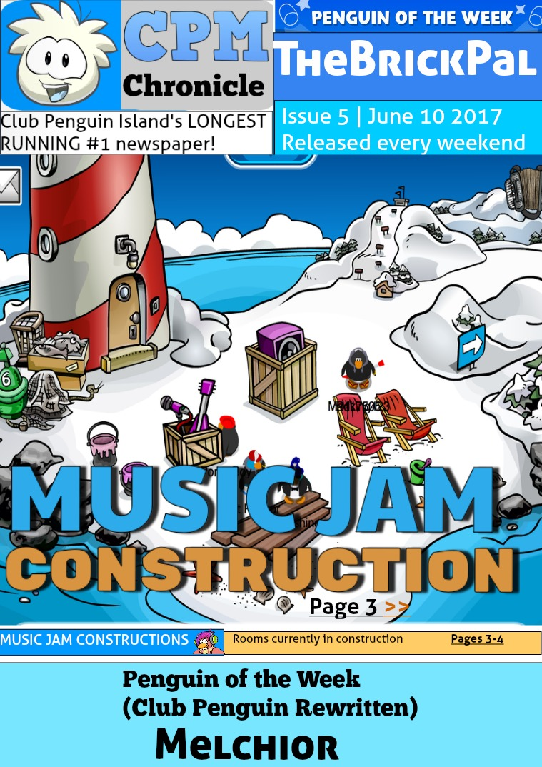 Club Penguin Metro Chronicle Issue 5 | 11 Jun. 2017