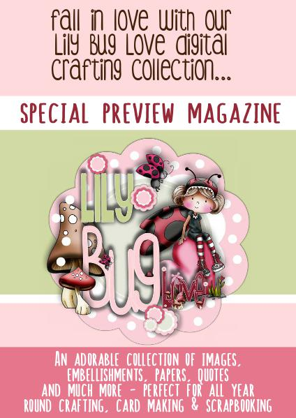 Lily Love Bug Digital Crafting Collection for card making & scrapbook