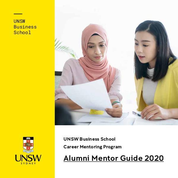 UNSW Business School Career Mentoring Program 2020