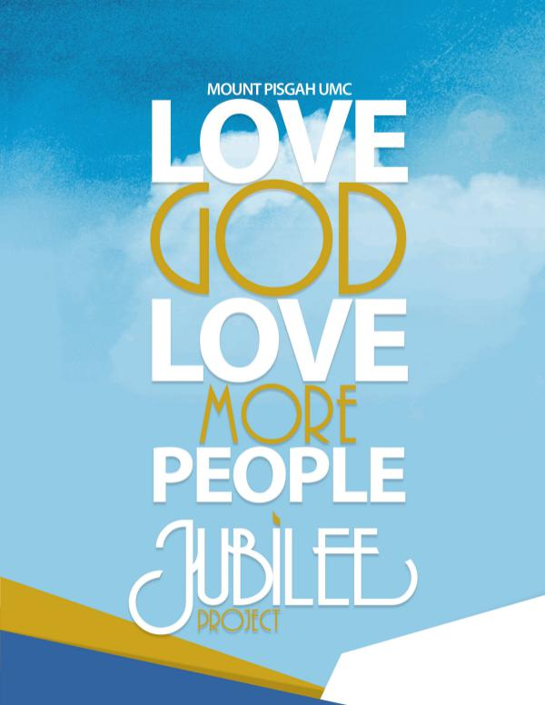 Jubilee Booklet Mount Pisgah United Methodist Church