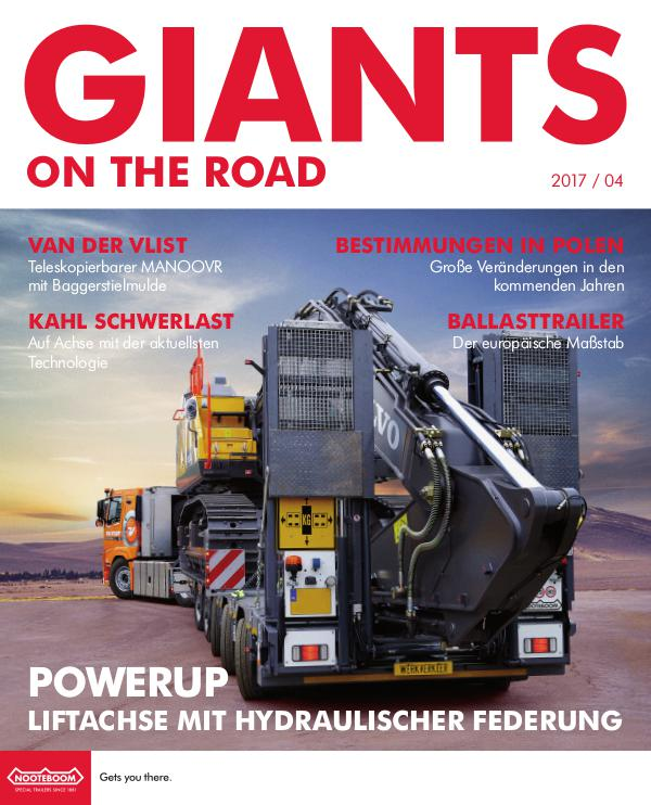 Deutsch - Nooteboom Giants on the Road Magazine Deutsch - Nr. 4 - 2017